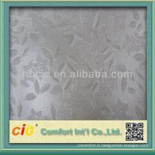 Tissu de similicuir de PVC de conception fine de PVC de mode