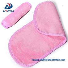 China Hersteller hellrosa Mikrofaser Make-up Entferner Gesicht Handtuch