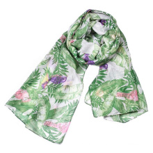 New style unique muslim printed palestine indian head Polyester floral voile Hawaii style scarf