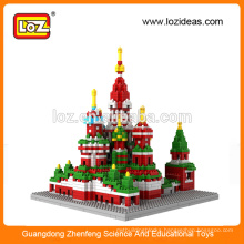 LOZ Manufacture diamond building blocks Vasile Assumption Cathedral educational kid toys (Item No.9375)