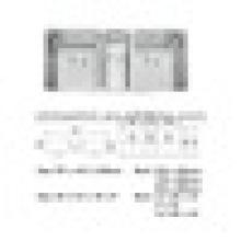 Küchenspüle aus Edelstahl mit Dreifachschale