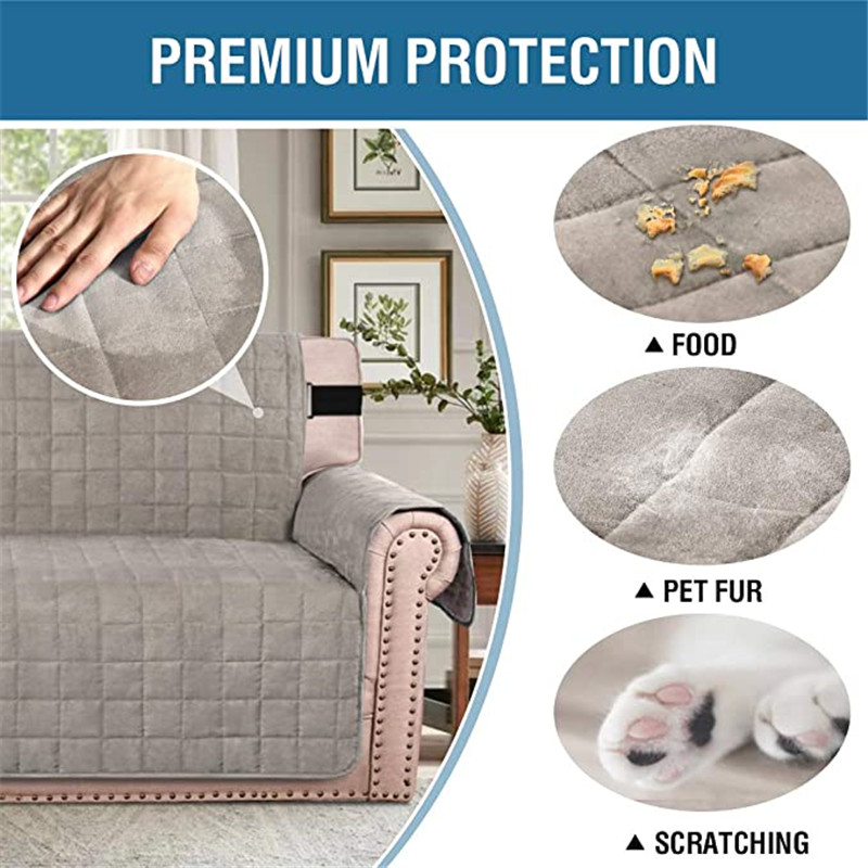 Velvet Sofa Protector Leather Chair Cover