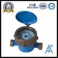 Compteur d'eau Jet unique Type humide en laiton corps