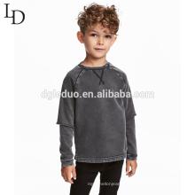 Camisola longa dos hoodies da luva do preço baixo do pulôver da fábrica do OEM para o menino