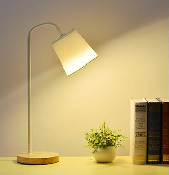 Bright Cloth Shade Iron Bedside Reading Lamp