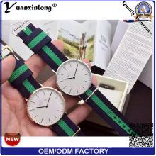 Yxl-100 2016 Assista Fábrica de Aço Inoxidável Colorido Nato Nylon Banda Relógio de Pulso Relógio Drees Senhora Homens Casuais Relógios