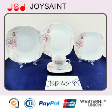 18PCS/19PCS/20PCS China Supplier Bone China Dinner Plate for Hotel Usage