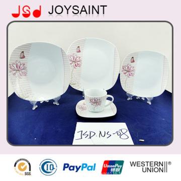 Nouveaux ensembles en céramique de dîner de porcelaine de décalque de conception pour la plaque alimentaire