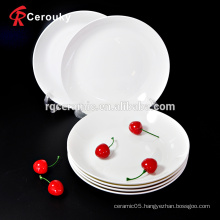 Custom round 10.5 inch ceramic dinner plate