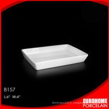 EuroHome produit maison ou restaurant porcelaine assiette rectangulaire