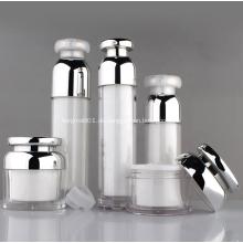 LOW MOQ Kunststoff weiße Kosmetik Serum Airless Lotion Pump Flasche 30ml 40ml 50ml