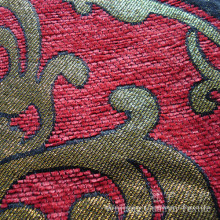 Gold Thread Yarn Dyed Jacquard Chenille Fabric for Sofa