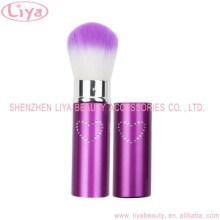 Professional Purpel multifunktionale einziehbare einzelne Make-up Kosmetik Pinsel