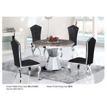 Professional Round Dining Table with Marble/Glass (T089)