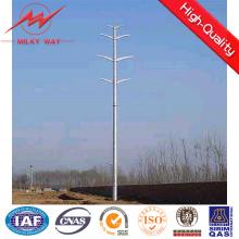 Torre de pólo de aço da classe E 69kv para a linha de transmissão projeto