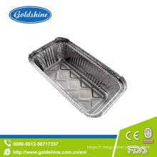 Récipient de nourriture en aluminium jetable de qualité de GV
