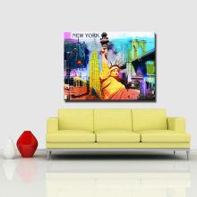 Arte abstracto de la pared de la lona del cartel