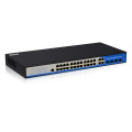 24 port 10/100/1000M poe with 4 gigabit sfp ethernet network switch with web managed