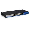 24 порта 10/100/1000m PoE с 4 портами Gigabit SFP для коммутатора сети Ethernet с веб-управляемых