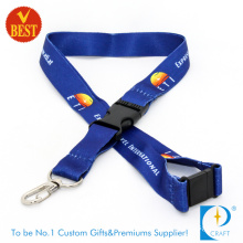 Customized Design Printed Lanyards with Metal Buckle for Promotion Gift