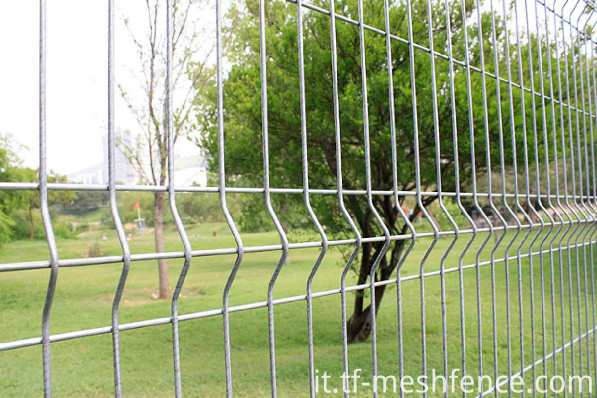 welded mesh fencing with square post