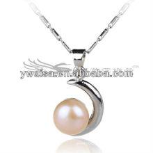 2013 новых привлекательных пресной воды 8мм груша падение ожерелье кулон моды оптовой
