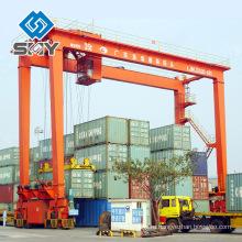 Двухбалочный РМГ 35 тонн передвижной контейнер используется Козловой Кран для продажи