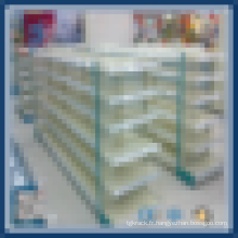 Installation facile d'étagère de supermarché
