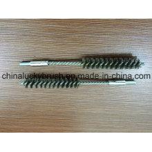 Cepillo de limpieza de alambre de acero inoxidable de 0,15 mm con rosca M6 (YY-600)