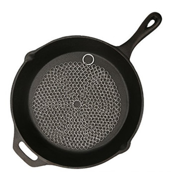 Égouttoir de cuisine en maille ronde en acier inoxydable