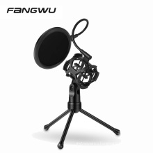 High Quality 3-IN-1Detachable Desktop Tripod Holder With Studio Mic Pop Filter Stand