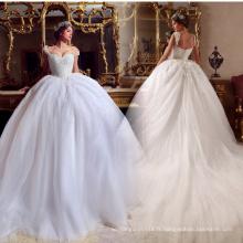 LL060 Luxe Beading 2017 Robes de mariée Robe de bal Appliques Robe de mariée en dentelle Tulle robe de noiva princesse Robes de mariée