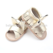 Wholesale kids baby soft sole real leather sandal shoes