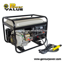 5kw Portable AC DC Welding Electric Start Gasoline Generator