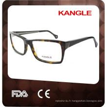 Lunettes populaires d'acétate de nouvelle mode pour l'homme, lunettes d'acétate