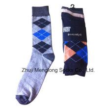 Boa qualidade clássico homem vestido meias feitas de algodão