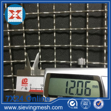 Crimped Wire Mesh Với Cut Edge