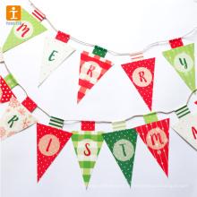 Personalizado bonita decoração bunting bandeira de algodão