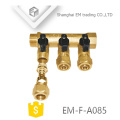 EM-F-A085 Floor water heating fitting brass 3 way manifold for Russia