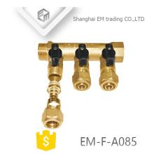 EM-F-A085 Colector de latón con 3 vías de calefacción de agua de suelo para Rusia