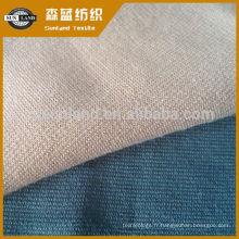 Tissu punto roma en tricot de trame T / R en spandex pour survêtement