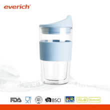 Eco-friendly Custom Heat Resistant Double Cheap Glass Cup For Coffee