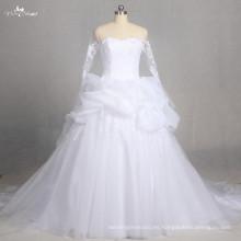 LZ178 Vestido nupcial especial del vestido de boda del cordón del imperio de la manga larga