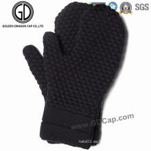 Venta al por mayor de moda invierno guantes de punto caliente