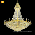 Gold Crystal Lighting Lamp Luces de lujo de cristal Lusters de cristal Middle East Chandelier