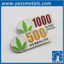 Pin et badge personnalisés de haute qualité avec émail doux et finition métallique