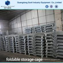 Caja de malla de alambre plegable de la jaula de almacenamiento