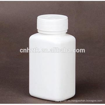 Botellas farmacéuticas redondas de diferentes tamaños.
