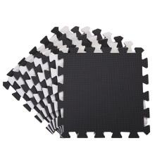18 Pack Interlocking EVA Foam Puzzle Floor Mats Black 30x30x1cm