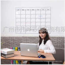 Printing Heavy Duty Laminated Extra Large Horizontal Wall Calendar / Stationary